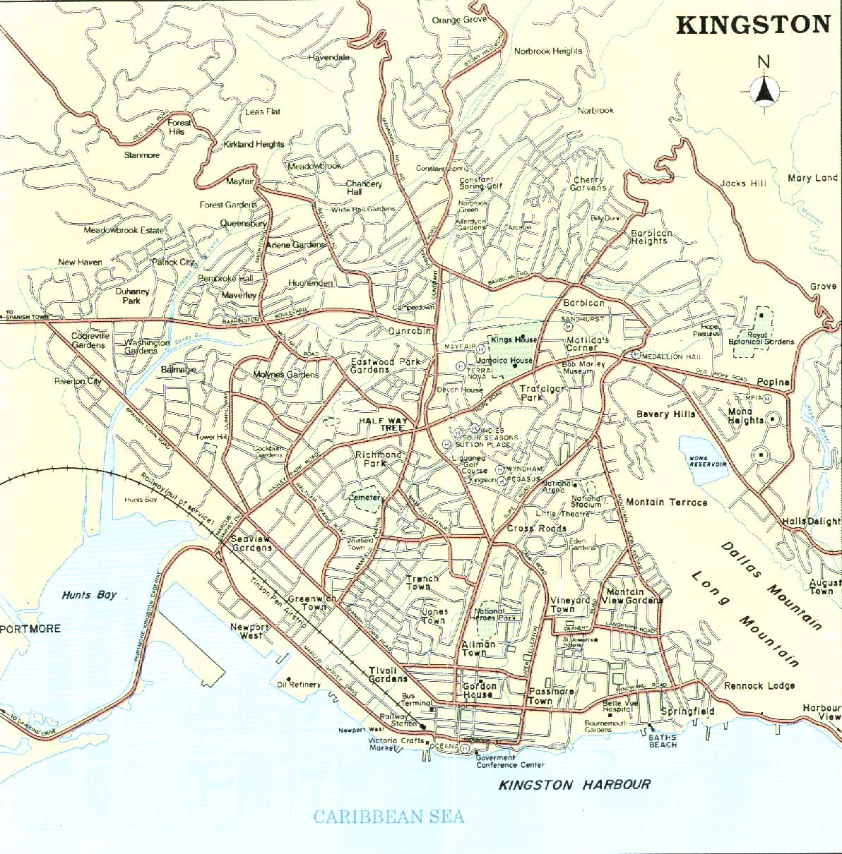 st rico town jamaica map ann puerto of